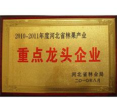 2010年省林业局林果产业龙头企业