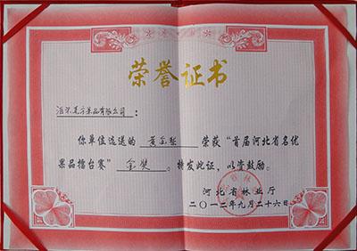 2012年黄金梨金奖